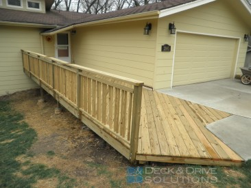 Simple Front Deck level with the Driveway