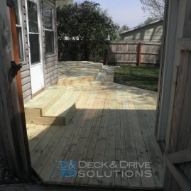 Made Backyard a Usable Space with a Deck