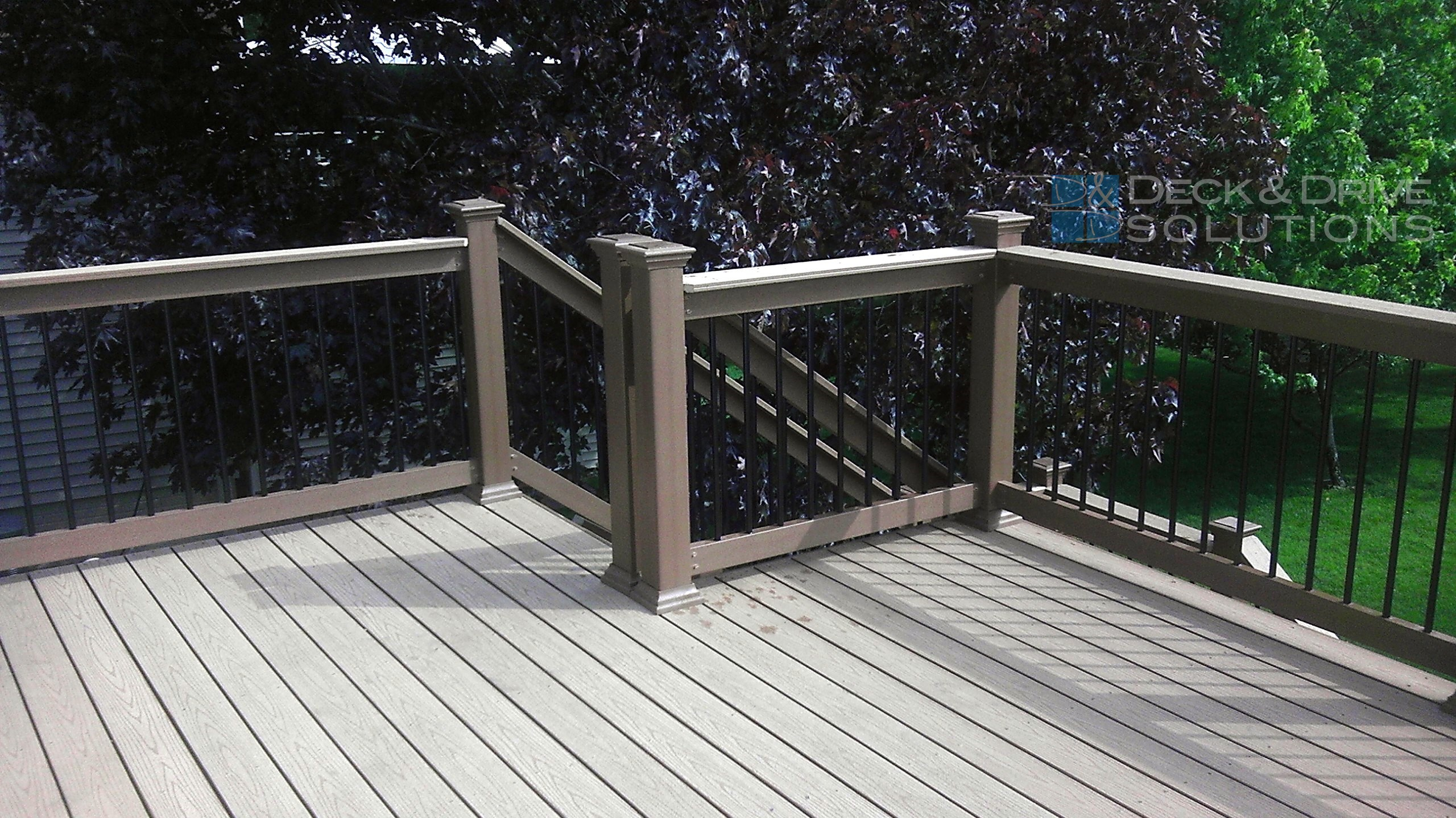 Deck resurface with timbertech composite decking and for Composite deck railing