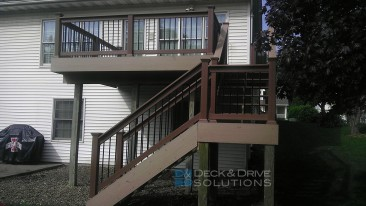 Deck Resurface with Timbertech Composite Decking and Railing