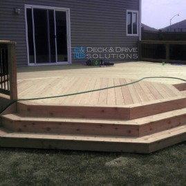 New Cedar Deck close to Ground