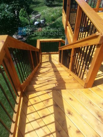 Deck resurface and then seal des moines deck builder for Cedar decks pros and cons
