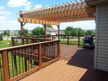 Resurface Decking and Railing, then New Cedar Pergola