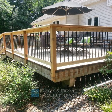 Updated Railing on Existing Deck