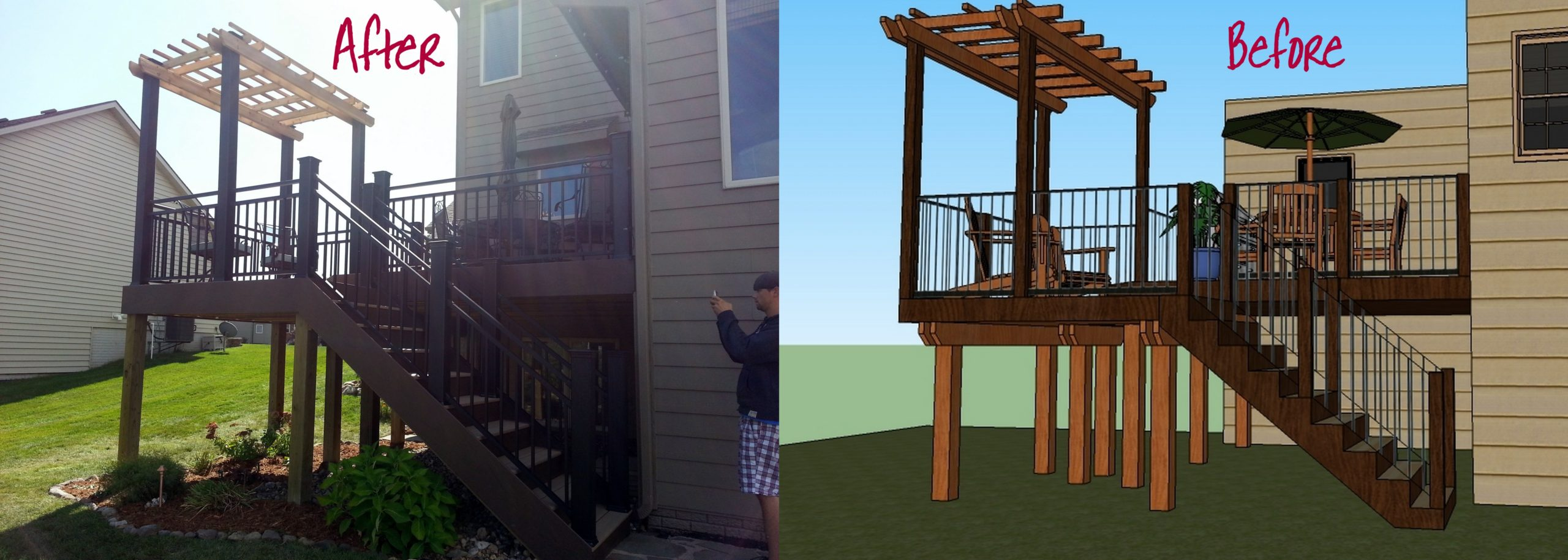 3D Schematic, Deck Design, Before and After