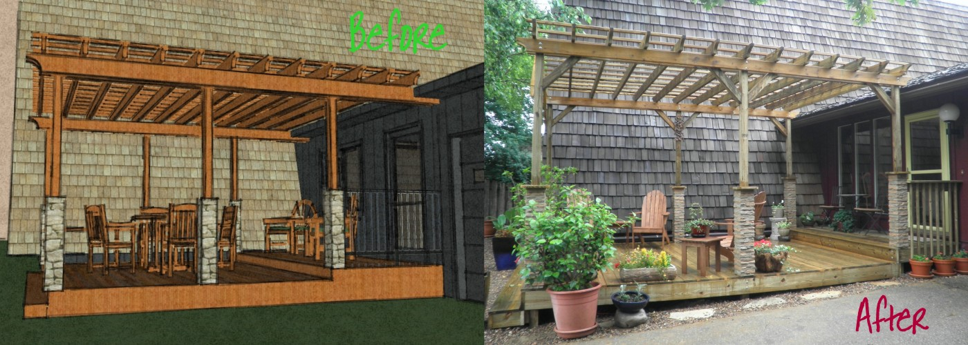 Before and After, Deck Schematic, 3D Deck, New Deck