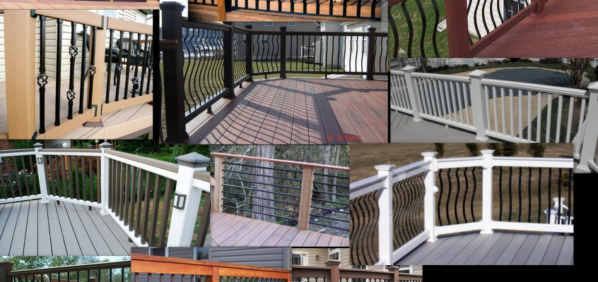 Railing Options – New Deck Construction