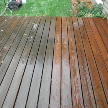 Routine Deck Wash of Mildew over Existing Stain
