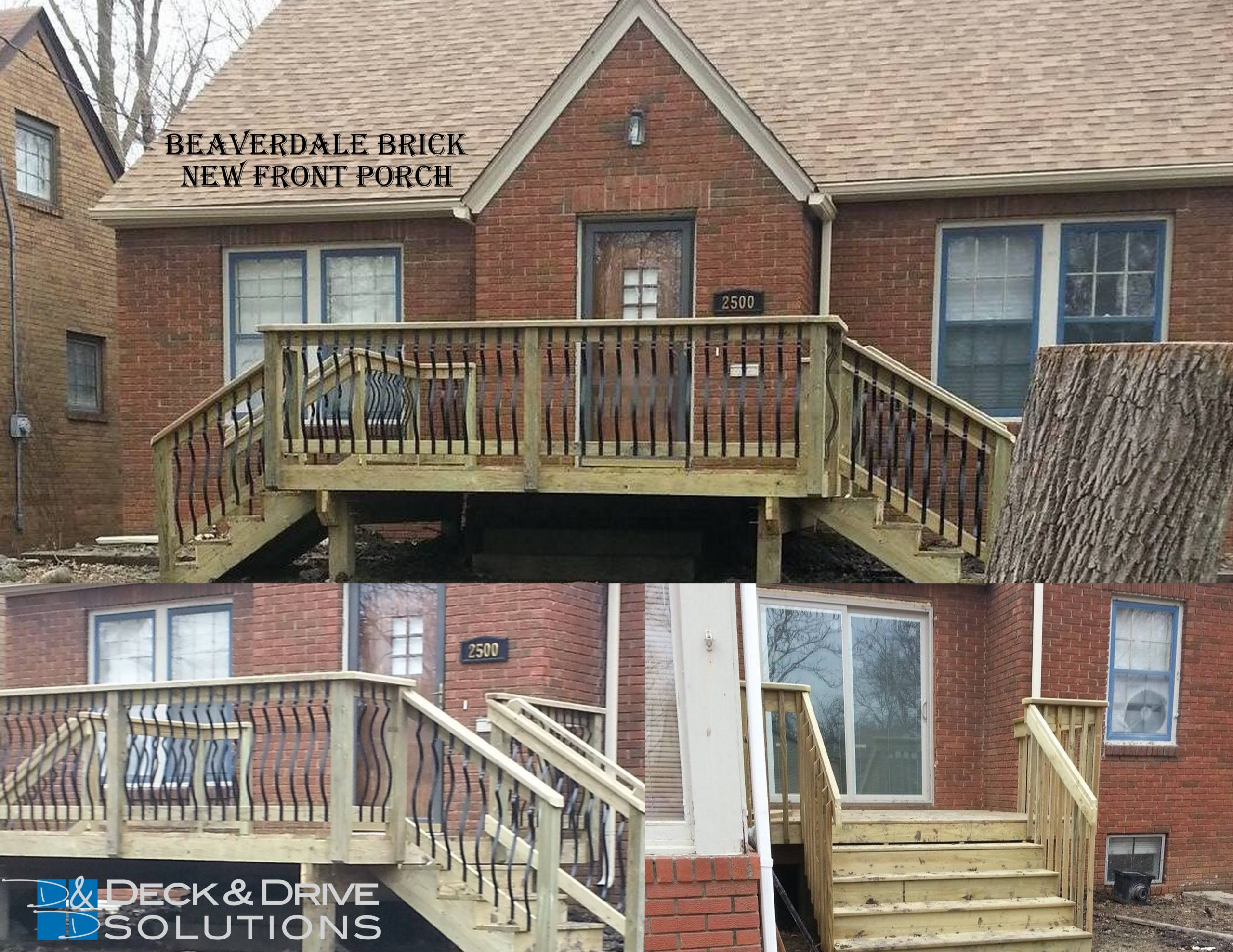 Beaverdale Brick Curb Appeal With A New Front Deck Des