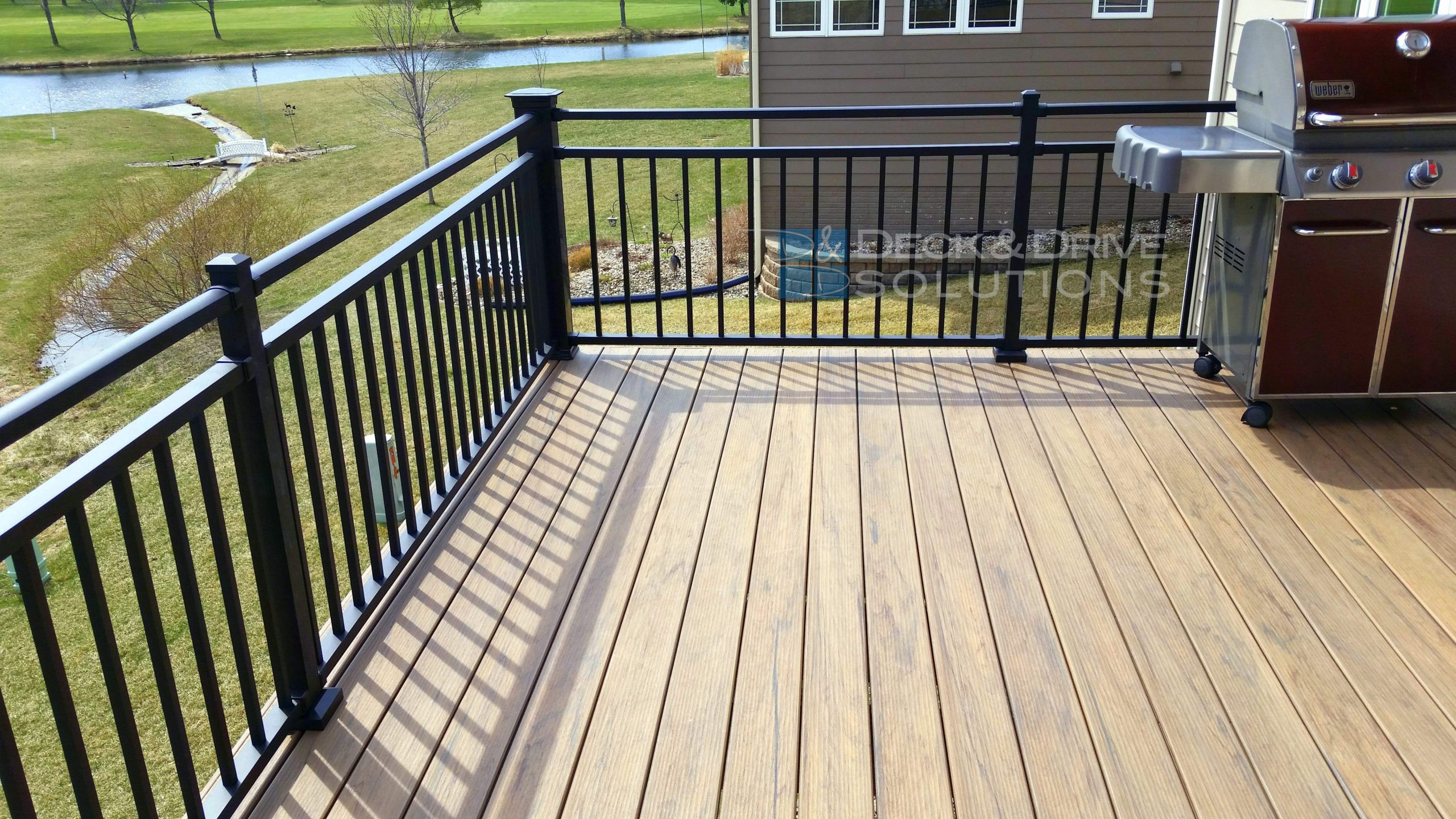 1st new style timbertech legacy pvc capped decking in des for Capped composite decking
