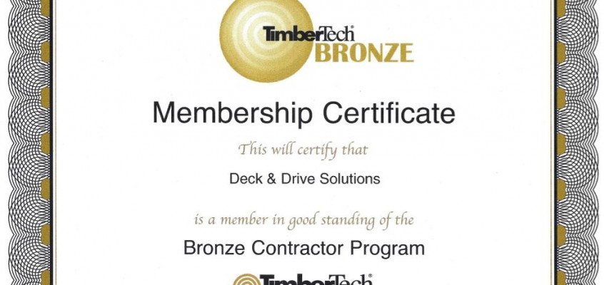 Timbertech Certified – Quality Products