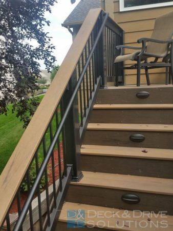 Double Decks Under Deck System And New Stone Patio Des