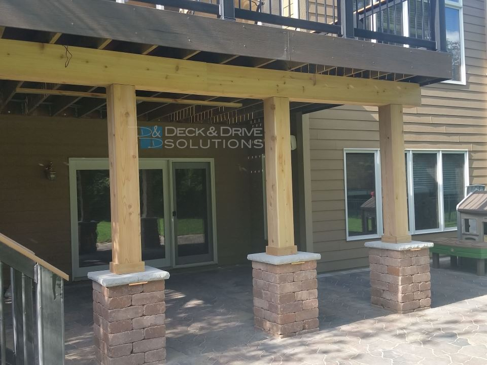 Double Decks, Under Deck System, And New Stone Patio | Deck And Drive  Solutions