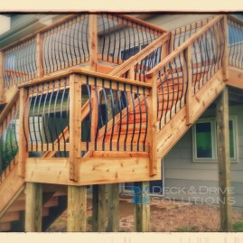 New Cedar Deck with Arc Railing