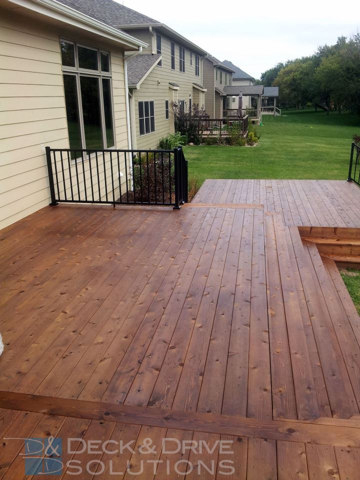 Deck With Many Stairs New Cedar Deck Sealed With Penofin