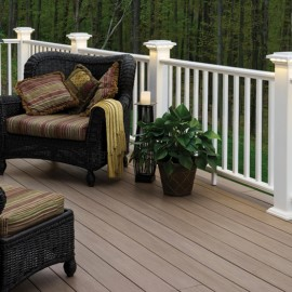 Front Porch Railing – White Maintenance Free Options