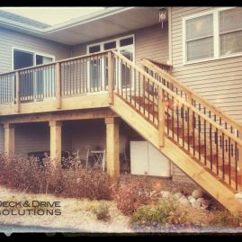 Cedar Deck's Rail, Stairs and Skirting Upgrade