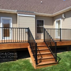 Mission Brown on New Cedar with Westbury Railing