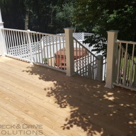New Cedar with White Westbury Railing