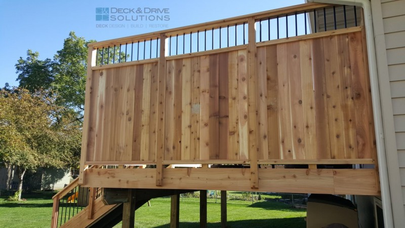 New Cedar Deck With Custom Privacy Des Moines Deck