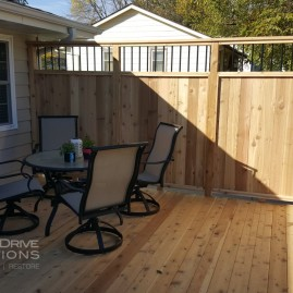 New Cedar Deck with Custom Privacy