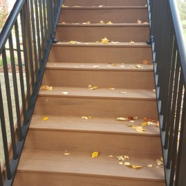 Timbertech Resurface with Aluminum Railing