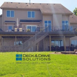 Large Timbertech Deck with Seperated Outdoor Living Areas