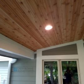 Timbertech with New Deck Roof and Cedar Carsiding