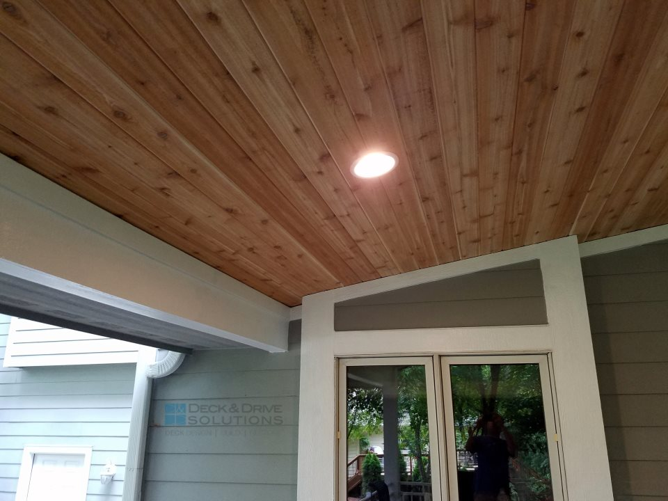Timbertech With New Deck Roof And Cedar Carsiding Des