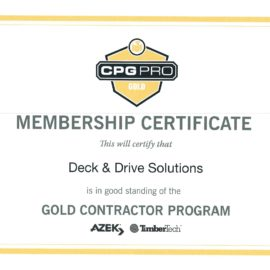 Timbertech Certified – Gold Level – Quality Products