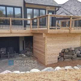 Cedar Resurface with Custom Cedar Wall Below