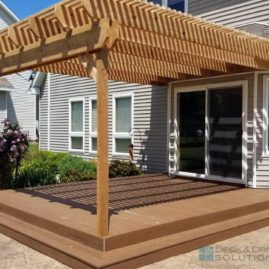 Timbertech Resurface and Cedar Pergola