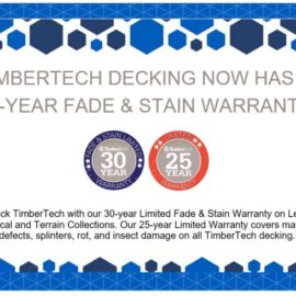 Updated Timbertech Warranty – 30 Year Fade & Stain Warranty