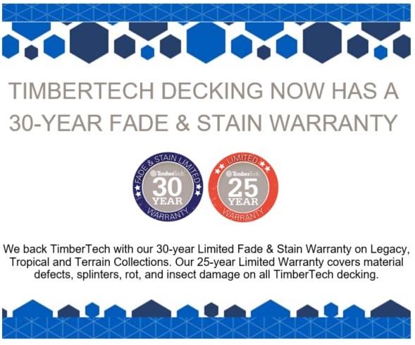 Updated Timbertech Warranty – 30 Year Fade & Stain Warranty