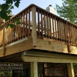 New Cedar Deck with Privacy Wall and Trex Rain Escape UnderDeck System