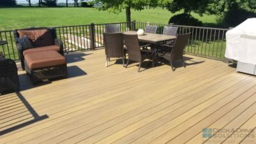 Composite Timbertech Deck with Under Deck Skirting