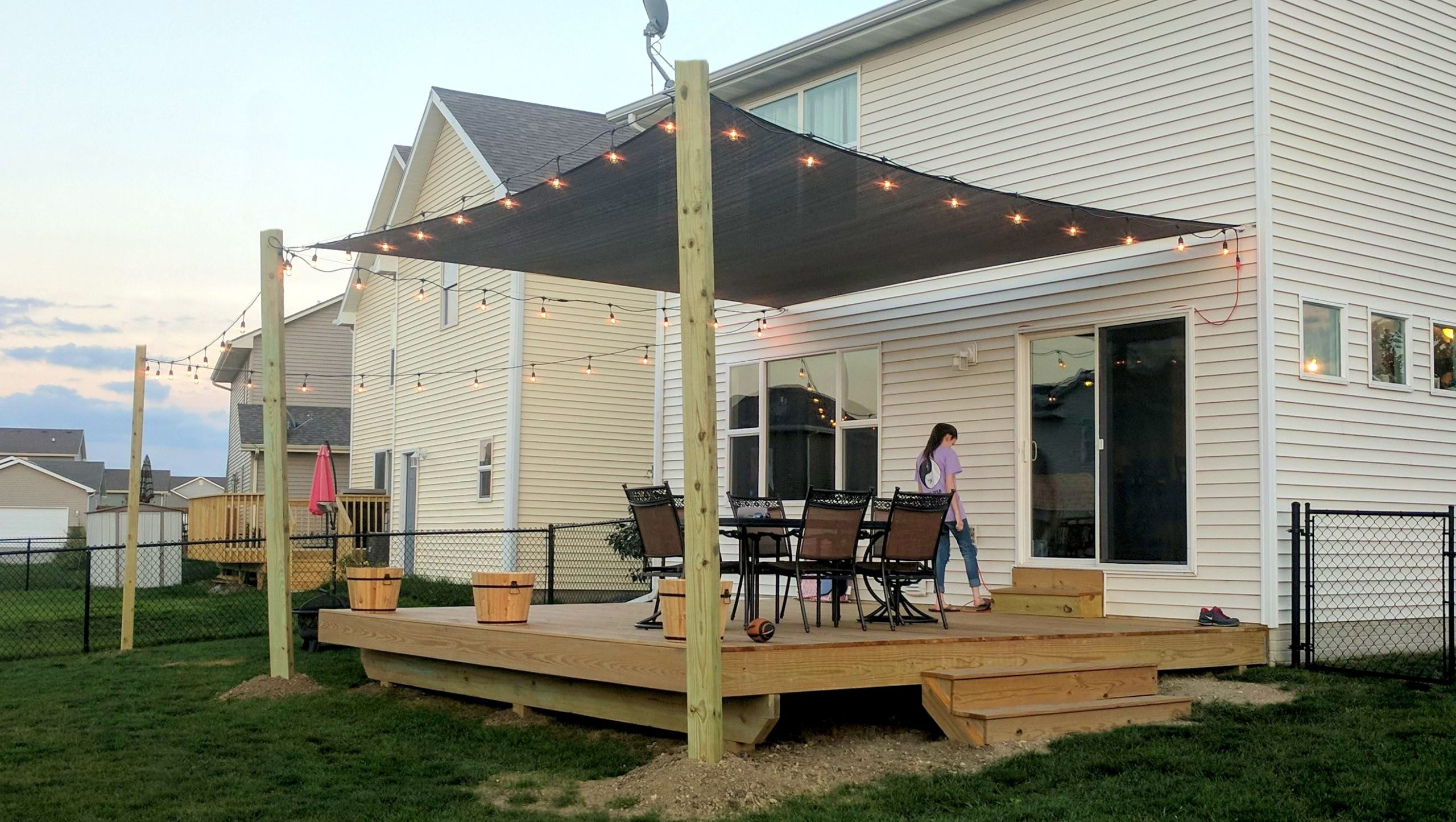 Sun Shade On New Deck Des Moines Deck Builder Deck And