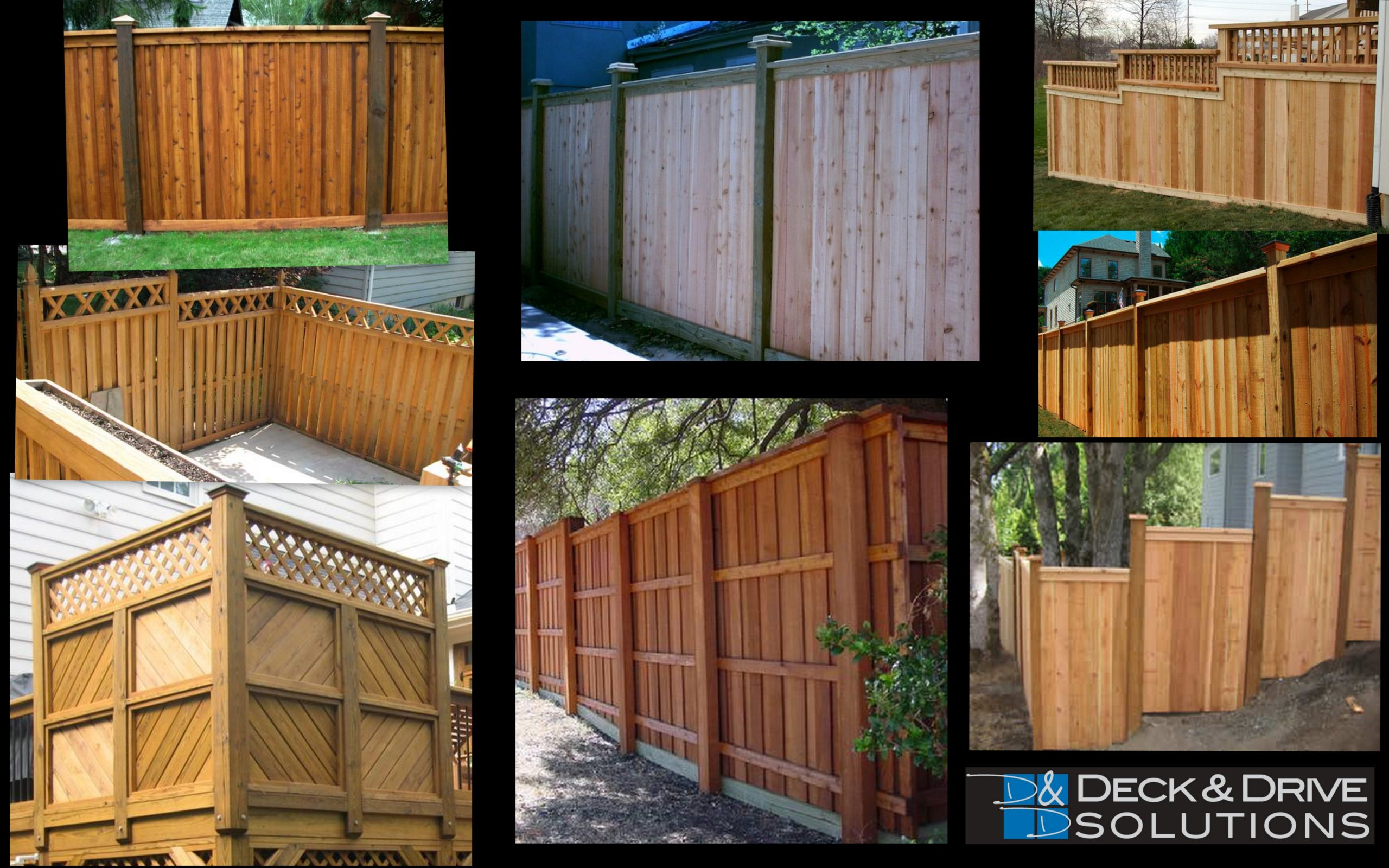 Fence and Privacy Wall Ideas | Deck and Drive Solutions ... on Decorations For Privacy Fence id=83918
