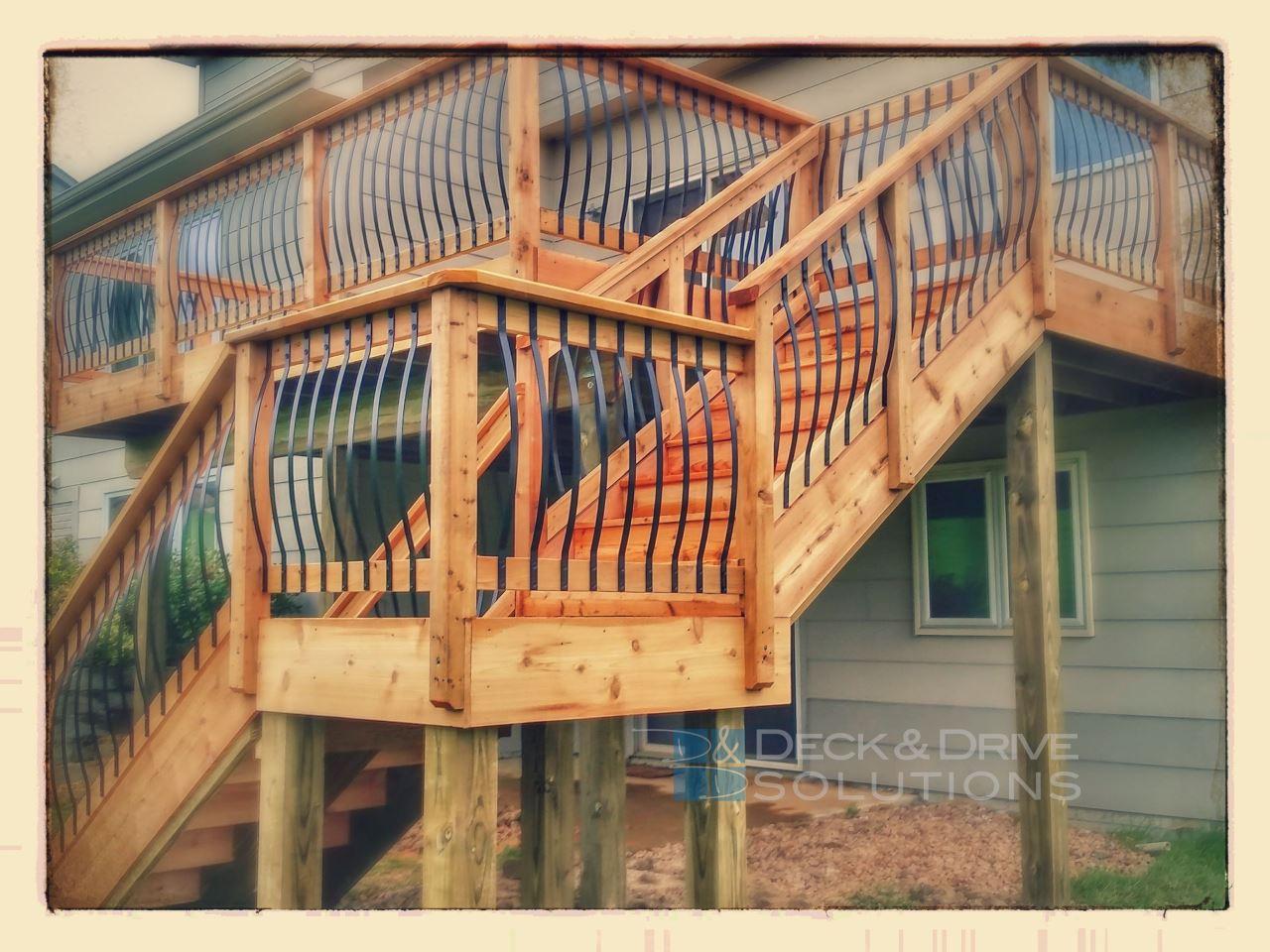 New Cedar Deck With Arc Railing Des Moines Deck Builder