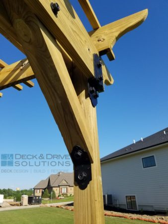 Custom Pergola with Ozco Brackets | Des Moines Deck