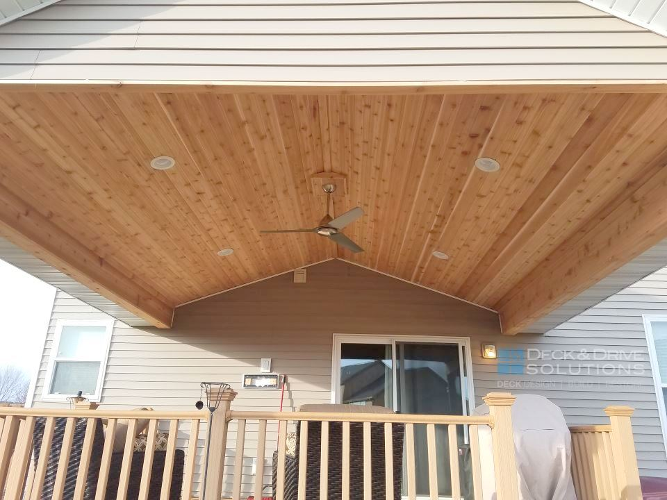 New Roof Over Existing Deck Des Moines Deck Builder