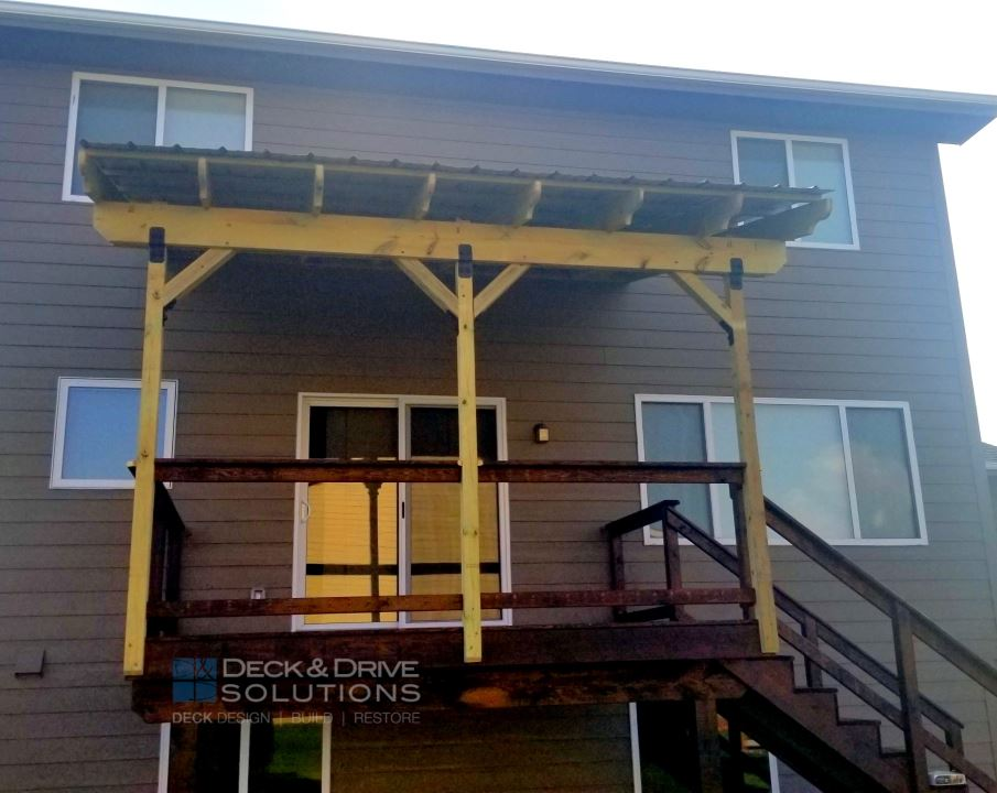 Metal Roof Over Deck Deck And Drive Solutions Iowa Deck Builder