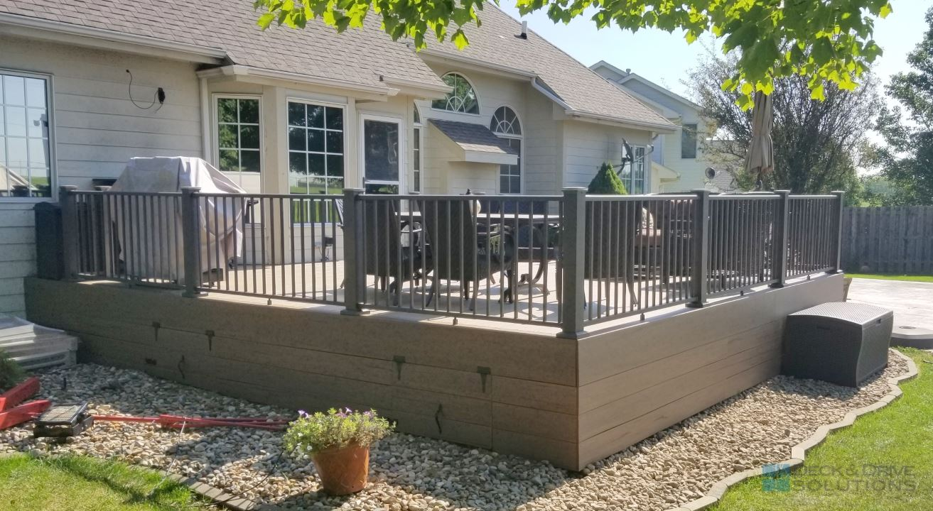 Composite Timbertech Deck With Under Skirting Des
