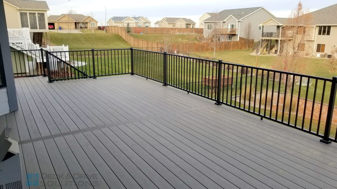Timbertech Silver Maple Walkout Des Moines Deck Builder