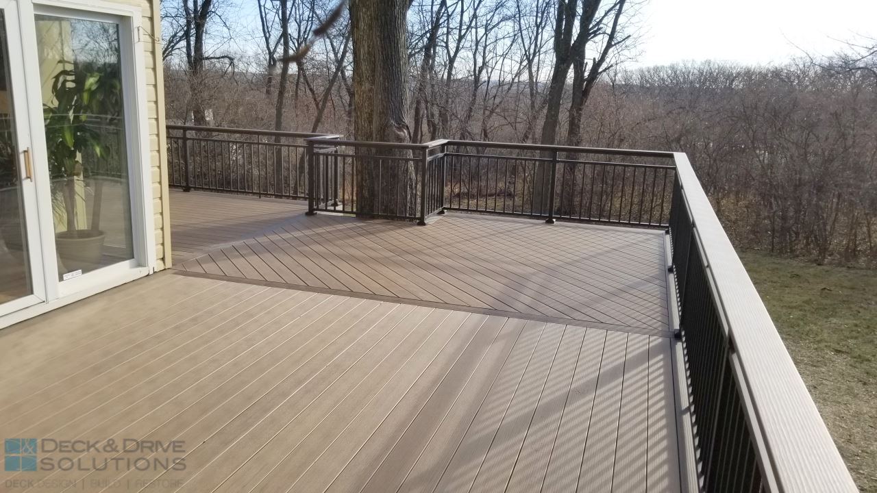Wrap Around Deck Deck And Drive Solutions Iowa Deck Builder