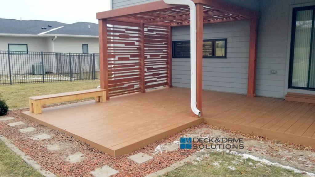 Timbertech Resurface W Modern Pergola Deck And Drive