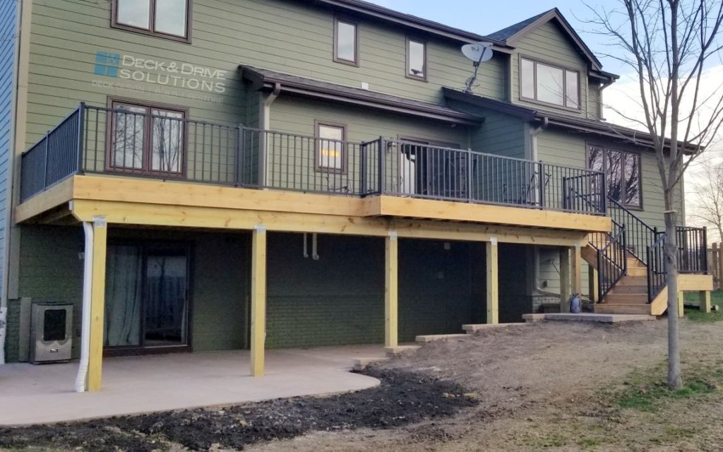 Daylight To Walkout Deck Project Des Moines Deck Builder